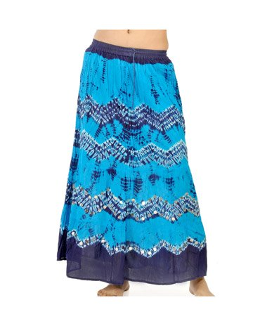 Rajasthani Turquoise Blue Bandhej Handcrafted Cotton Skirt 291