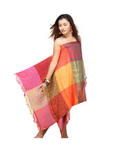 Colourful Traditional Pure Viscose Scarf Stole 122
