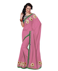 Dlines Enterprises Pink Butt Border Saree