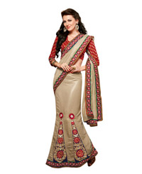 Dlines Enterprises gold embroidered Lehenga Saree