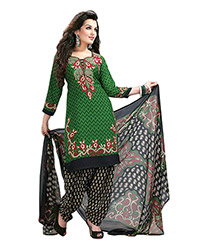 Green churidar unstitched