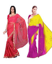 Kota Doria  Resham Border Red Cotton Saree (Another Kota Doria Saree Free)