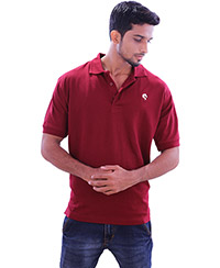 Rodeio Mens Maroon Collared T-Shirt