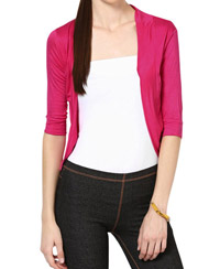 Softwear Fuchsia Pink Viscose Shrug