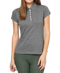 Softwear Graceful Andhra Melange 7-Button Collared T-Shirt