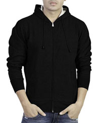 Softwear Mens Black Plain Hoodies