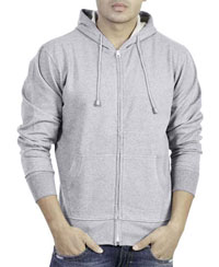 Softwear Mens Grey Melange Plain Hoodies