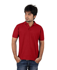 Softwear Mens Red Collared T-Shirt