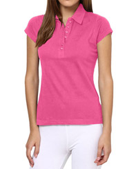 Softwear Pink 7-Button Collared T-Shirt