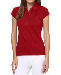 Softwear Red 7-Button Collared T-Shirt