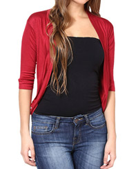 Softwear Red Viscose Shrug