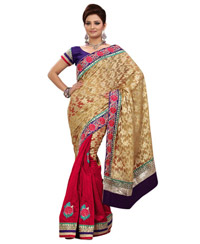 Traditional Embroidered Bhagalpuri Saree 4004a