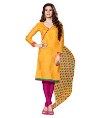Triveni Amazing Magenta Colored Chanderi Silk Salwar Kameez