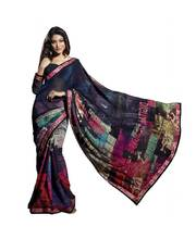 Triveni Classy Abstract Pattern Sleek Border Saree