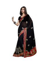 Triveni Sensational Paisely Motif Embroidered Indian Traditional Latest Saree