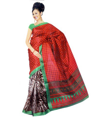 Vamika Multicolour printed Bhagalpuri Saree