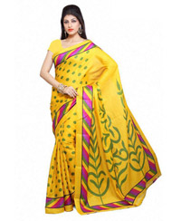 Vamika Yellow Bhagalpuri Saree