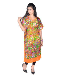 Vivaa multicolored Georgette kaftan