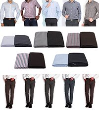 BSL Unstitched Formal Shirt and Trouser Combo-5 Shirt+5 Trouser